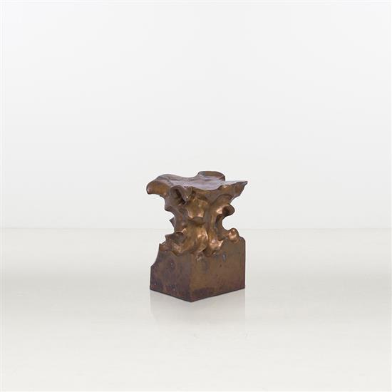 ƒ Shi Jianmin Rising Peak Tabouret Bronze Édition limitée à 3 exemplaires Numéroté 1/3 Date de création : 2008 H 50 ×...