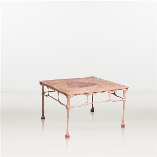 ƒ Shi Jinsong Table Bois Huashan Project: Melt Pièce unique Date de création : 2014 H 50 × L 80 × P 80 cm
