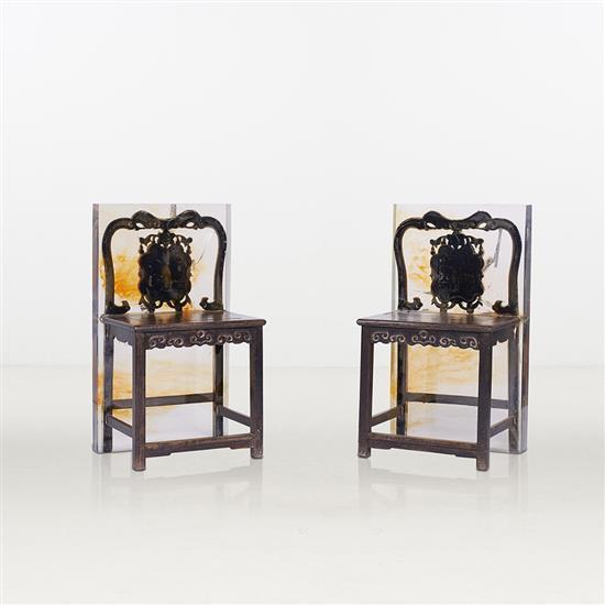 ƒ Song Tao Qing Dynasty Chaise Résine Edition limitée à 8 exemplaires   2 E