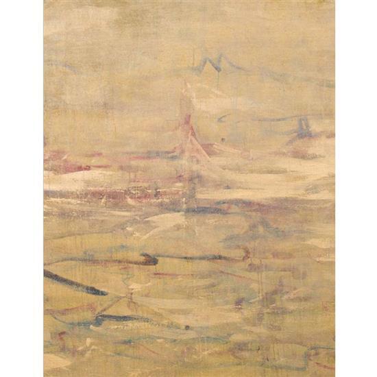 ƒ Lin Jing Sound of Night Wave , 2015 Triptyque Huile et acrylique sur toile Signé  160 × 160 cm (chaque)