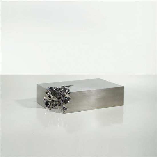 ƒ Shi Jianmin Gold Brick N°1 Table basse Acier Edition limitée à 8 exemplaires   2 E