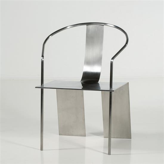 ƒ Shao Fan Stainless Steel Chair Fauteuil Acier Date de création : 2000 H 90 × L 48 × P 58 cm