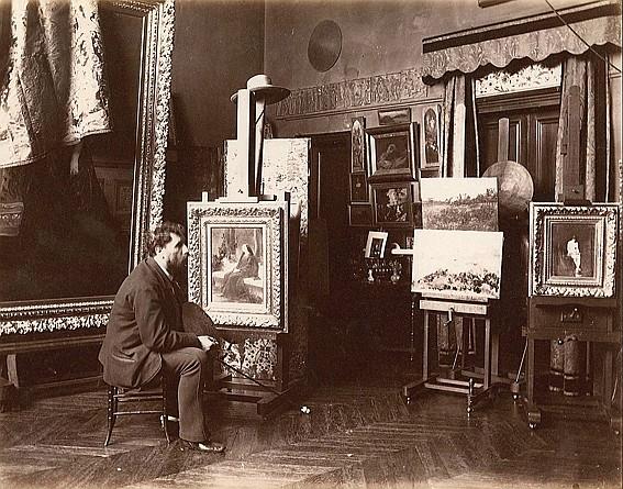 Edmond BÉNARD (1838-1907) Tony Robert-Fleury (1837-1912) - peintre,  années 1880-1900 Épreuve d'époque sur papier albuminé