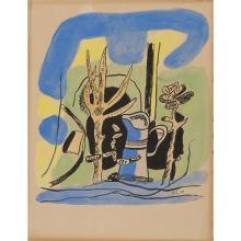 Fernand Léger (1881-1955)Les Illuminations d''Arthur Rimbaud, 1949