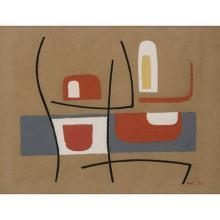 Nicolaas Warb (1906-1957)Etude pour Alternance (variante), 1954