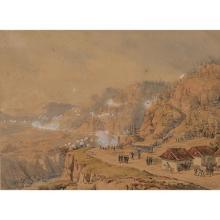 Théodore Jung (1803-1865)Scène de bataille dans la montagne