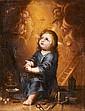 École ESPAGNOLE du XVIIe siècle, entourage de Juan VALDES-LEAL L'Enfant Jésus devant les instruments de la Passion