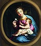 Nicolas LOIR (Paris 1624-1679) Vierge à l'Enfant dans un ovale peint