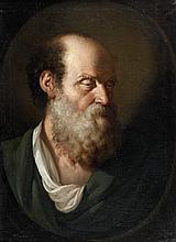 Benigne GAGNERAUX (Dijon 1756 - Florence 1795) Tête de vieillard Sur sa toile d'origine 76,5 x 54 cm Signé au revers de la toile B
