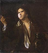 École de BERGAME du XVIIIe siècle Jeune homme fumant et tenant une cruche