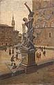 Ruggero PANERAI (1862-1923) Le Palais de la Seigneurie, Florence