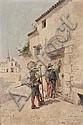 Enrique ATALAYA (1851-1914) La Visite et Réunion de mousquetaires