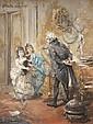 Vincente de PAREDES (1845-1903) Précepteur enseignant à deux fillettes