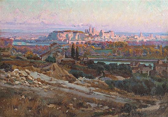 Louis-Agricol MONTAGNE (1879-1960) Avignon, soleil couchant, 1906