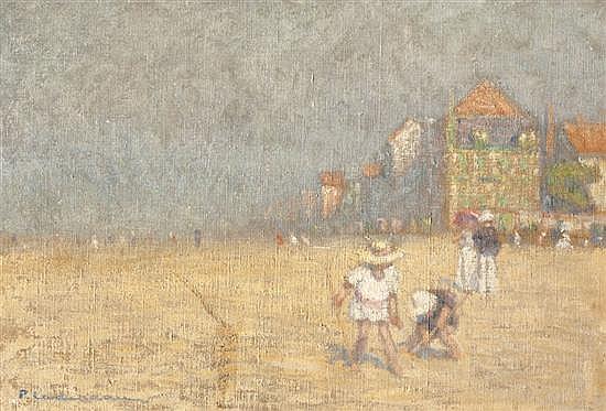 Pierre LADUREAU (1882-1974) La Plage, le matin
