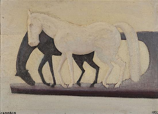 Guido CADORIN (1892-1976) Chevaux blancs