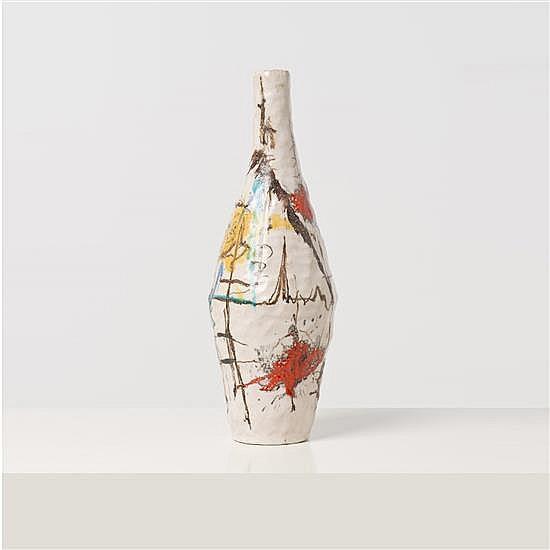 Andrea D'Arienzo (1911-1995) Vase Céramique émaillée Signé H 41 × Ø 16 cm