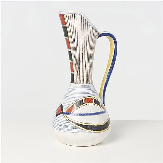 Andréa D'Arienzo (1911-1995) Pichet Céramique émaillée Signé Date de création : années 1950 H 37 cm