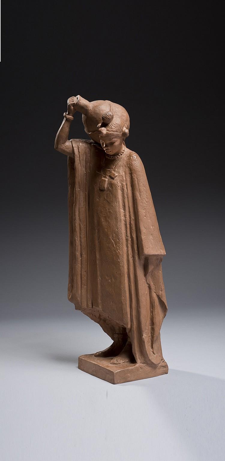 Anna QUINQUAUD (1890-1984) Négresse à l'amphore ou Femme porteuse d'eau Songoï