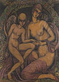 Gustave GILLOT (1888-1965) Amour