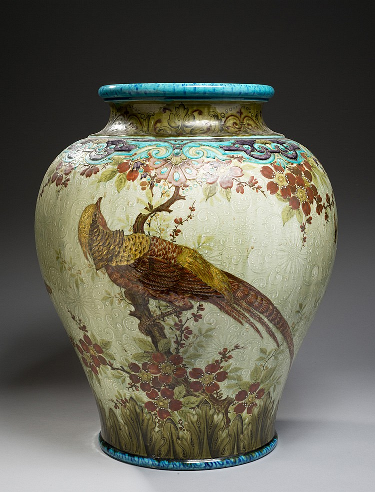 th odore deck 1823 1891 important vase balustre en c ramiq. Black Bedroom Furniture Sets. Home Design Ideas