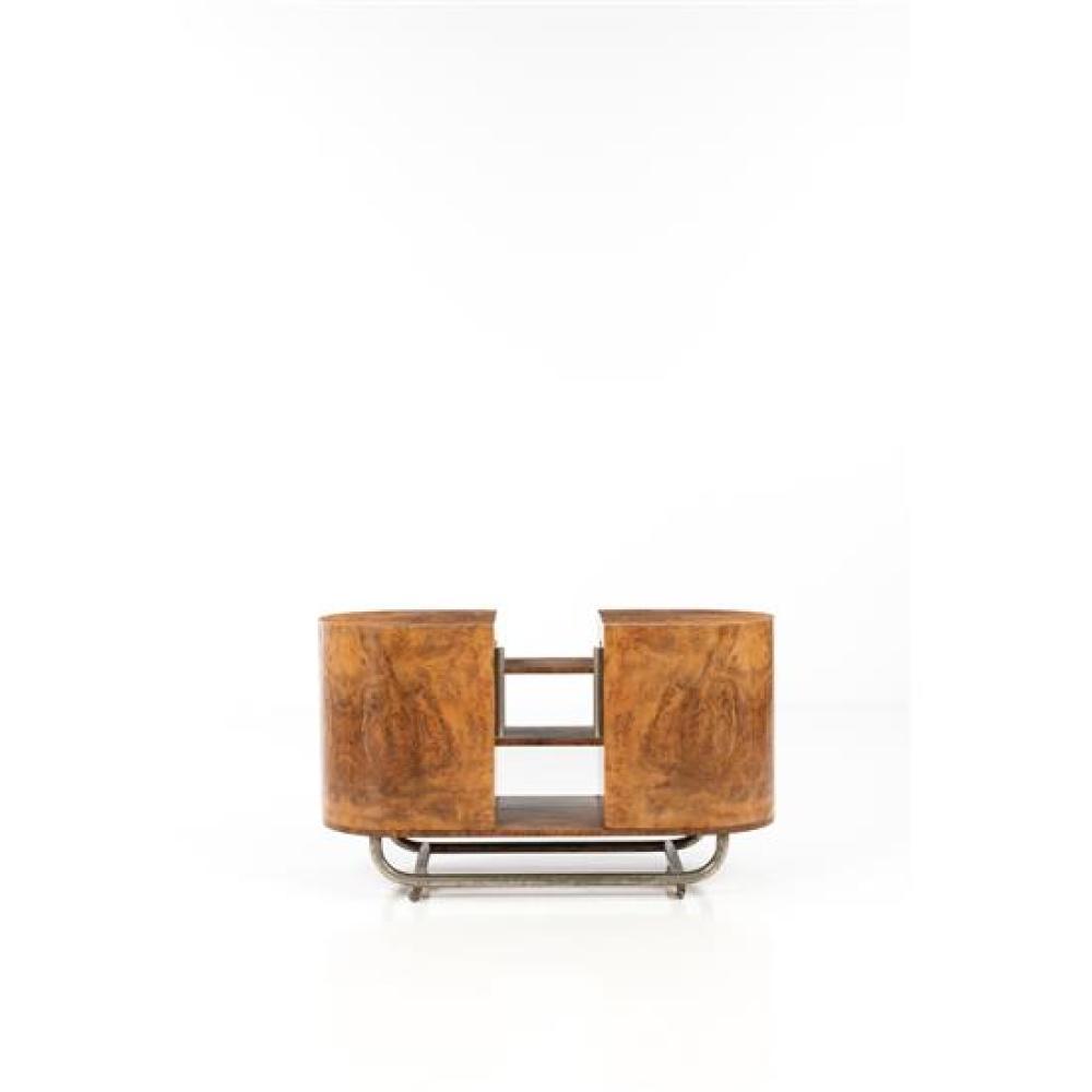 Meuble H Et H gio ponti (1891-1979) meuble de bar ronce de noyer, bois et