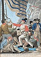 École anglaise, vers 1780-1800 Paul Jones shooting a Sailor who had attempted to strike his Colours in an Engagement