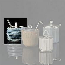 Bode Willumsen (1895-1987)Pot à confiture et cuillèreGrès émaillé et argentSignéDate de création : 1937