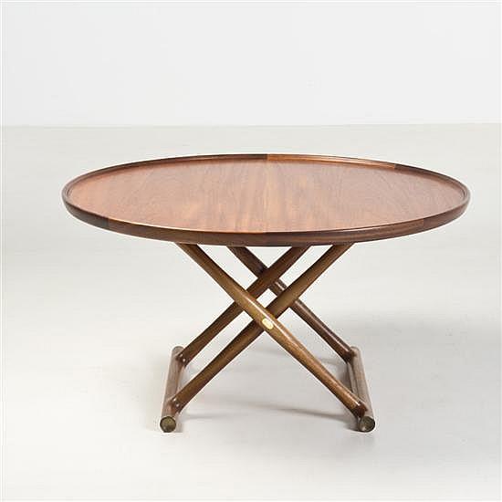 mogens lassen 1901 1987 egypt table basse acajou et laiton