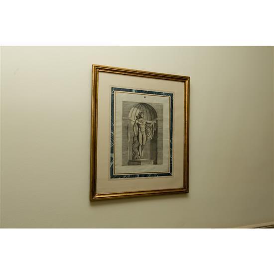 Cinq études de sculptures 58x57 cm5 estudios de esculturas clásicas
