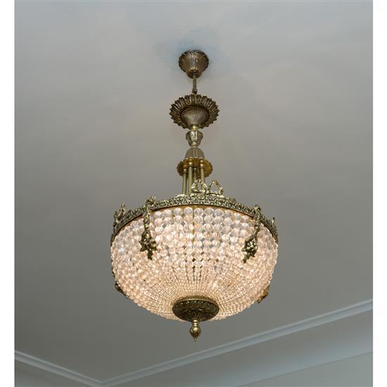 Lustre en cristalLampara de techo