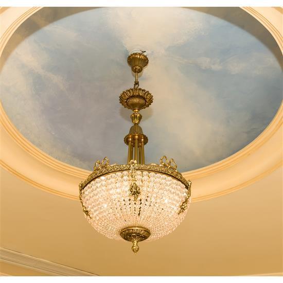 Lustre en cristal H 85 cm D 40 cm Lampara de techo