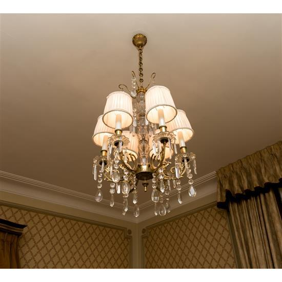 Lustre en cristal à cinq lumièresLampara de techo en cristal