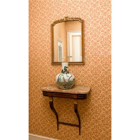 Console dessus marbre, 70x66x30 cm, miroir, 70x50 cmConsola de colgar con espejo