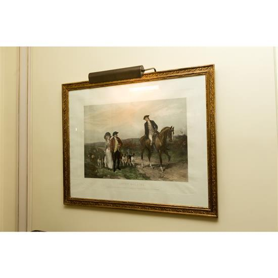 Gravure, Love''s barrier, 90x110 cmGrabado coloreado Love''s Barrier 90 x 110 cm