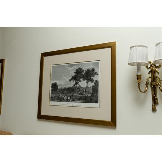 Deux estampes,Vues de Madrid, 63x75 cmPareja de estampas vistas de Madrid