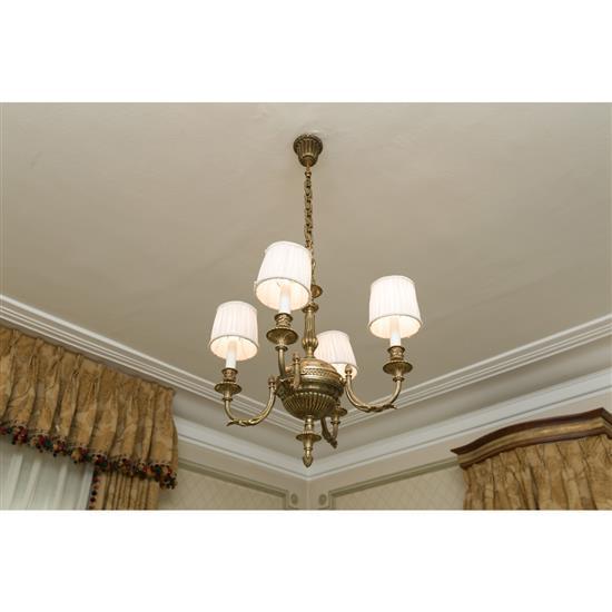 Lustre à quatre lumières Lampara de 4 luces de techo