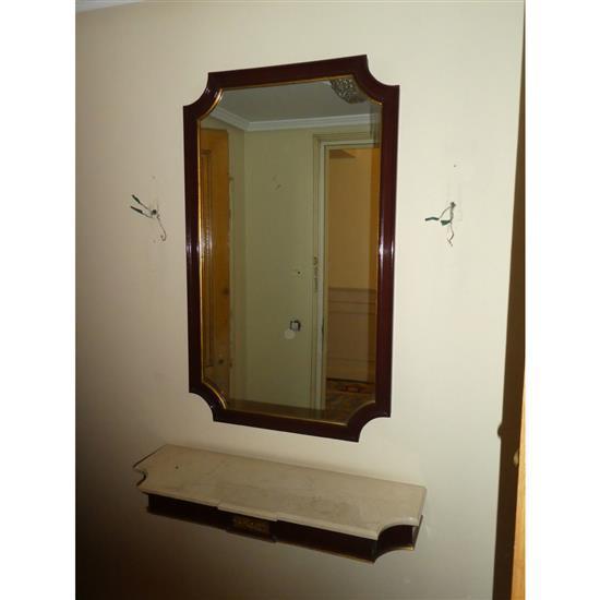 Miroir et consoleEspejo y consola de colgar