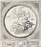 Attribué à Claude II AUDRAN (1639-1684) Allégorie de la Justice couronnée par la Victoire Crayon noir et lavis gris  27,5 x 23,5 cm ...