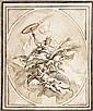 Carlo CARLONE  (Scaria 1686 - Come 1775)  Allégorie de la moisson Plume et encre brune, lavis gris sur traits de crayon noir  17 x 2...