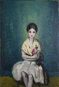 Ludovic Lucien MADRASSI (1881-1956) L'Enfant sage Huile sur toile Signée en bas à gauche 131 x 89,5 cm Exposition : Ca...