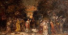 Adolphe MONTICELLI (1824-1886) Fête dans un parc, circa 1880-82