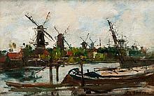 Eugène BOUDIN (1824-1898) Canal à Rotterdam