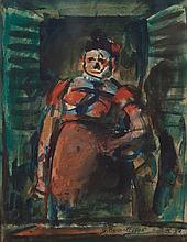 Georges ROUAULT (1871-1958) Fille à sa fenêtre, 1906