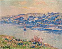Henry MORET (1856-1913) Doëlan, brumes du matin, 1908