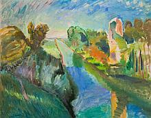 Charles CAMOIN (1879-1965) Bord de Canal