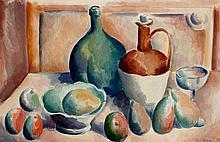 René PARESCE (1886-1937) Nature morte aux deux cruches