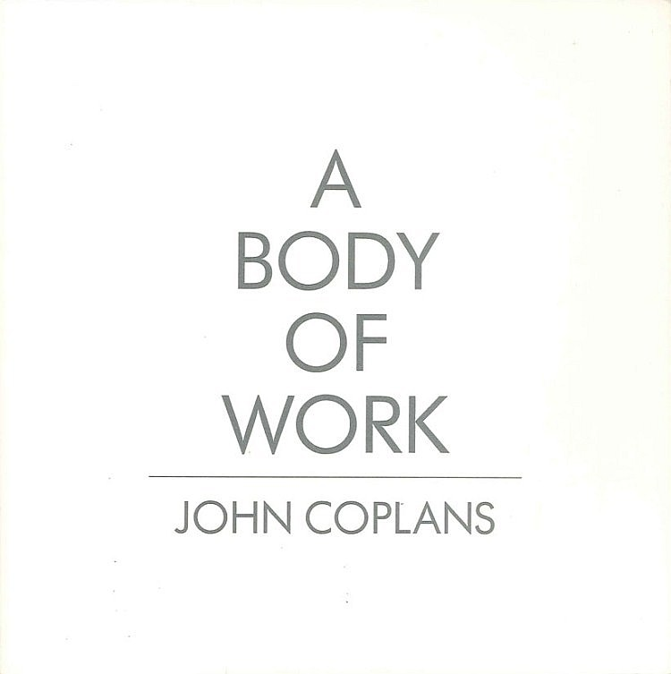 John COPLANS (1920-2003) - 3 livres