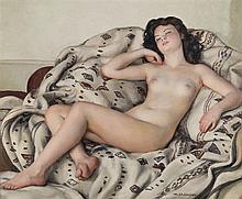 Maurice EHLINGER (1896-1981) Repos du modèle Huile sur toile signée en bas à droite 60 x 73 cm