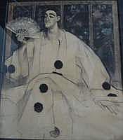 ARTHUR NAVEZ (1881-1931) - Pierrot à l'éventail
